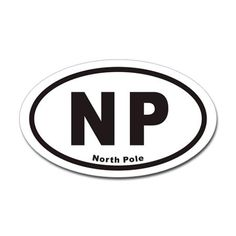 Shop North Pole NP Euro Oval Sticker (Oval) designed by OvalStickers. Political Views, North Pole, New Hobbies, White Vinyl, Buick Logo, Euro, Print Design, Politics, Stickers