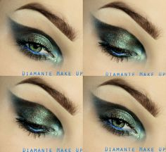 Between heaven and earth - #heaven #earth #makeup #dramaticmakeup #eyes #eyemakeup #greenshadow #eyeshadow #diamantemakeup - bellashoot.com