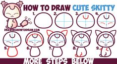 How to Draw Cute Kawaii / Chibi SKitty from Pokemon in Easy Step by Step Drawing Tutorial for Kids