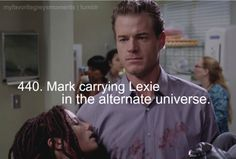 Mark carrying Lexie in the alternate universe. <3