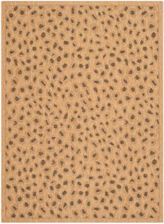CY6104-39 Rug from Courtyard collection.  Invigorate outdoor entertaining spaces w/ this cheetah-print patio rug by Safavieh, staine and fade resistant for vivid color and soft feel year after year.