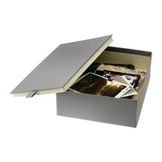 "$7 PALLRA Box with lid - gray, 10 ¾x8 ¾x3 ½ "" - IKEA"