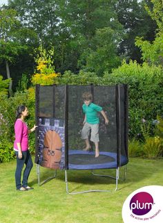 Plum® King's Fortress Trampoline and Enclosure - A fantastic colourful castle-design trampoline that inspires children's imagination for creative role play.