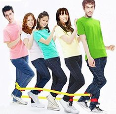 Amazon.com: Sonyabecca Cooperative Band Walker 5-Legged Race Band Set Game Teamwork Training for Children Adult Pack of 2: Home & Kitchen