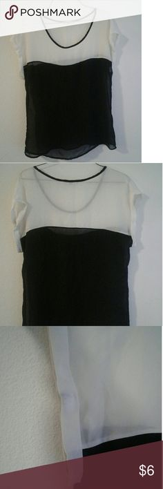 Womens prifessional translucent top Womens small classy top, is translucent. Used but in great condition Tops Blouses
