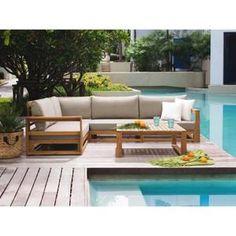SALON DE JARDIN  Salon de jardin - Meubles en bois d acacia - Ensem