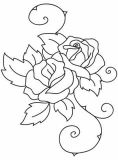 Embroidery Designs at Urban Threads - Roses Supposes