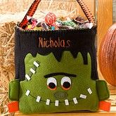 Frankenstein Personalized Halloween Trick or Treat Bag Dulceros Halloween, Halloween Arts And Crafts, Halloween Sewing, Halloween Patterns, Halloween Trick Or Treat, Halloween Projects, Halloween Party Decor, Holidays Halloween, Halloween Treats