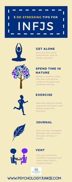 #INFJ stress-reducing tips! #infographic #personality #MBTI
