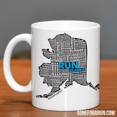 Alaska runner State Runner Collection Mugs. Exclusively from GoneForaRun.com #running #runner