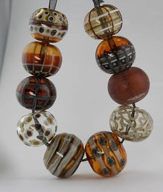 CK Lampwork___Autumn Hollow Beads 10-SRA, Handmade glass beads | eBay
