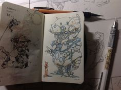Number 292 of Kenneth Rocafort's 365 day sketch project.