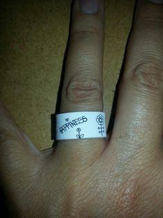 Ring aus Schrumpffolie