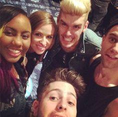 Jaime Grace, Colton Dixon, Annie, and Capital Kings! #selfie #Nightofjoy