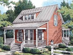 Home Plan HOMEPW03756 is a gorgeous 1383 sq ft, 2 story, 3 bedroom, 2 bathroom plan influenced by  Country  style architecture.