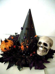 Halloween Decor / Witch Hat / Halloween / black witch hat centerpiece