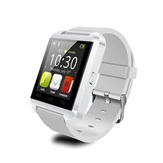 ES Trader Bluetooth Smart Wrist Watch Smartphone For iOS Android iPhone Samsung HTC Sony Blackberry Nokia (White) >>> Continue to the product at the image link.