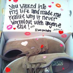 damn should have done this with the shoes I bought the boyfriend for vday hehe <3