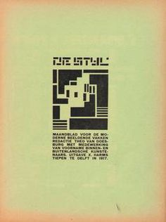 Every issue of 'De Stijl' (1917-1920) online as a PDF archive