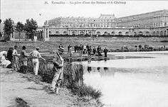 Pêche sur le plan d'eau des Suisses à Versailles il y a quelque temps...
