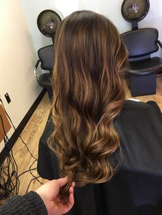 Warm chocolate caramel honey tone for dark hair types / highlights for brown hair