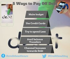 5 Effective Ways to get Out off Debt #payoffdebt #debtfree #debt #credittips #creditmanagement #financetips