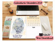KAWAII DOWNLOAD – Le Chat Noir Cutisserie Calendario/Planner Dicembre 2017 Free