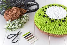 Crochet Kiwi Cushion