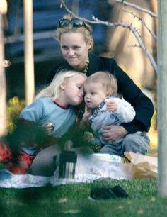 Vanessa Paradis and her children