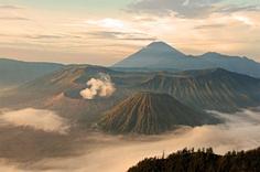Active Semeru Volcano in Indonesia