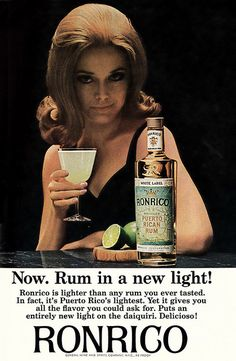 littlebunnysunshine: 1965 Liquor Ad, Playboy, Ronrico Puerto Rican Rum, with Beautiful Redhead Girl by classic_film on Flickr.