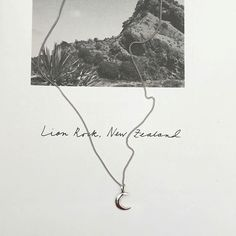 Tiny moon necklace, Sterling silver #moonloft | www.moonloft.nl
