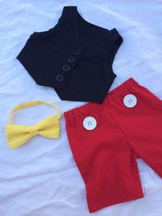 Boys mickey mouse adorable complete outfit. by SewCreative12
