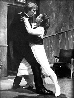 """Alan Rickman with Beatie Edney """"Tango at the End of Winter"""" 1991"""