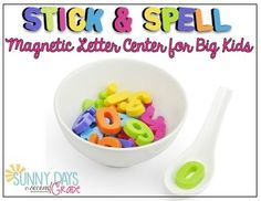 Magnetic Letter Spelling Center for older students (grades 3 and up or advanced 2nd graders)