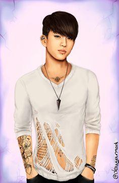tattooed got7 part 7/7 - park jinyoung (cr. drawyourmark.tumb...)