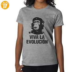 Viva La Evolucion Revolucion Monkeys XXL Damen T-Shirt (*Partner-Link)