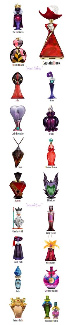 Disney Villan reimagined as perfume I want the bottles but you can't buy them: