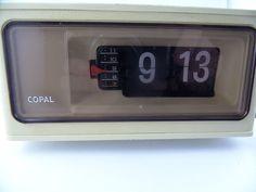 COPAL Klappzahlenwecker Uhr 70er Jahre Wecker Flip Clock Japan