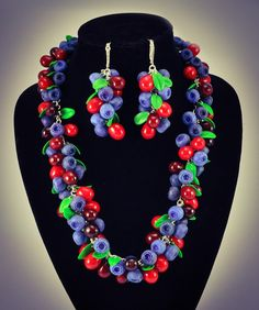 Hey, I found this really awesome Etsy listing at https://www.etsy.com/listing/189406111/set-of-jewelry-with-berries-berries