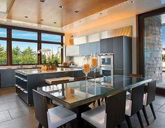 Dune Road home kitchen.