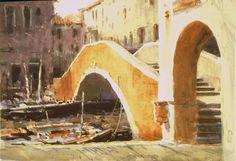"Robert Wade     'CHIOGGIA BRIDGE"" 1998 15""x20"""