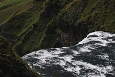 Iceland, Skógafoss Waterfall (view from the top)