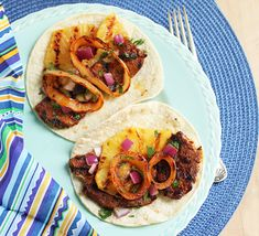 Pork Tacos with Achiote & Grilled Pineapple for Cinco de Mayo.