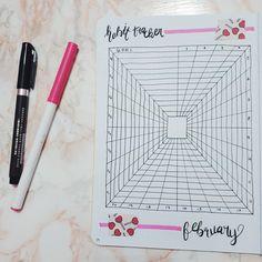 "59 Likes, 5 Comments - The Bullet Journal Club (@thebulletjournalclub) on Instagram: ""[ PT / ENG ] - Lully~  rastreador de hábitos de fevereiro~  february habit tracker~ . . . #pink…"""