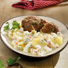 Potato Salad with Meatballs Recipes Weight watchers Sandwich Recipes, Snack Recipes, Healthy Recipes, Weigt Watchers, Weight Watchers Menu, Stir Fry Recipes, Meatball Recipes, Meals For Two, Seafood Recipes