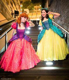 Cinderella, Katsucon 2013 by LJinto, via Flickr  #Cosplay #Cinderella #Katsucon #2013 #LJinto #Cosplay #Women #Dress #Pink #Yellow #Smile #Redhead #Red #Hair