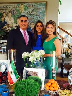 Noblesse & Royautés: The Iranian Royal family posed for photos for the Iranian New Year, 2015-Crown Prince Reza and Crown Princess Yasmine with daughter Princess Iman