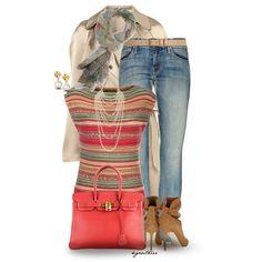 Lauren Ralph Lauren tops, MOTHER DENIM jeans and Brian Atwood ankle booties.