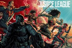 This Mondo Poster For JUSTICE LEAGUE Is By Far The Coolest One We've Seen Yet